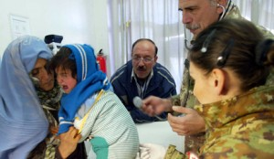 Italian  Provincial Reconstruction Team provide medical treatment to Afghans