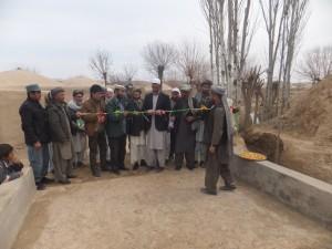 افتتاح پروژه های بازسازی درولایت بادغیس